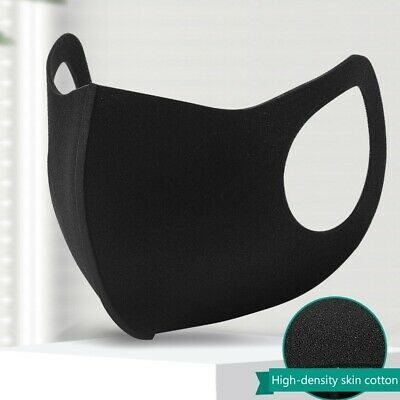 Washable Breathable Black Face Mouth Protection With Filter Valved Anti Exotic