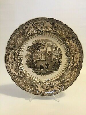 Antique Olympic Games Plate The Discus, Staffordshire T. Mayer, Stoke Upon Trent