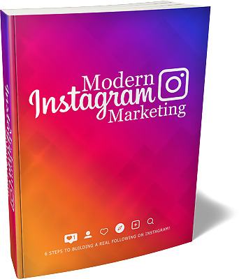 Modern Instagram Marketing PDF eBook with master resell rights 24 H deliver