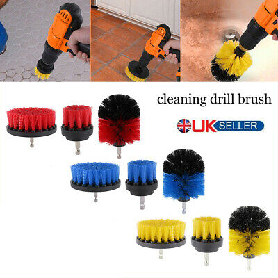 3pcs Cleaning Drill Brush Cleaner Combo Tool Kit / Electric Drill Power Scrubber
