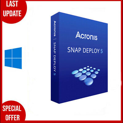 Acronis Snap Deploy 5✔️2020✔️Lifetime Licence Key✔️multilingual✔Fast Delivery✔