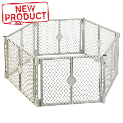 Large Baby Panel Playpen Child Safety Play Yard Pen Indoor Outdoor Portable Gray