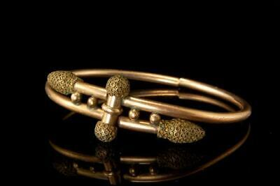 Antique Victorian Gold Filled Bypass Bangle Bracelet A020685