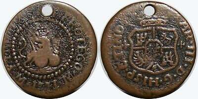 1771-M Spain/Philippines 1 Quarto ~ VF/XF Details ~ Basso-6a ~ Scarce Issue