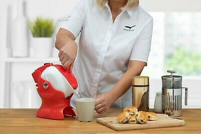 Uccello Kettle Tipper 1.5 Litre Red and White