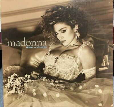 Madonna Like A Virgin Lp Sire 1984 25157-1 With Inner
