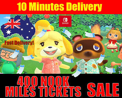 400 Nook Miles Tickets Animal Crossing New Horizons 10 MIN DELIVERY!CHEAPEST