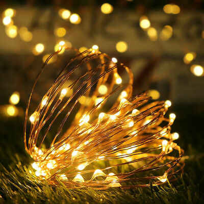 Waterproof LED Solar String Light Lights Copper Wire Fairy Outdoor Garden Party