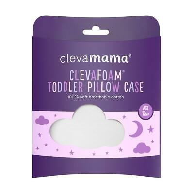 ClevaMama Replacement Toddler Pillow Cover (White) - Fits ClevaFoam Toddler