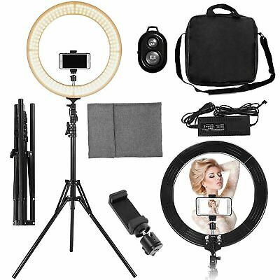"""18"""" LED SMD Ring Light Kit with Stand Dimmable 5500K for Phone Camera Makeup"""
