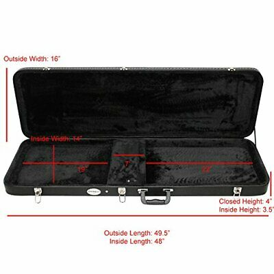 Bass Electric Guitar Hard Case Fits Most Standard Electric Guitars Hardsell