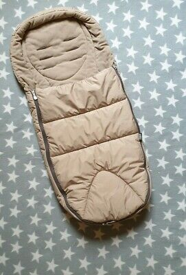 Mamas and & Papas Mountain Cosy Toe Biege Winter Cold Weather Plus Footmuff