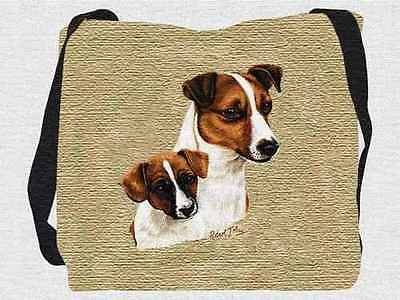 Woven Tote Bag - Jack Russell Terrier & Pup 1208