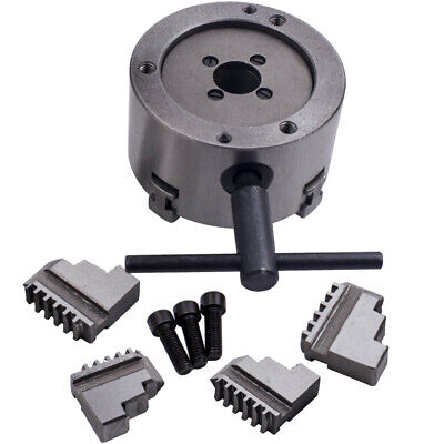 K12-100 100mm Metal 4 Jaw Self-Centering Chuck with Extra Jaws f/ Lathe Milling