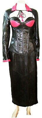 Real Leather boned Corset  Ladies Women Dress Stylish Cocktail Party Casual