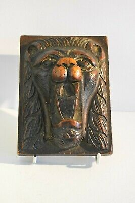 Wooden Carving of Lions Head 18th cent