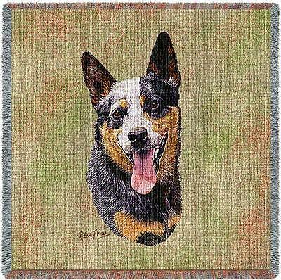Lap Square Blanket - Australian Cattle Dog by Robert May 3321
