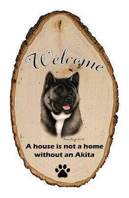 Outdoor Welcome Sign (TB) - Silver Akita 51041