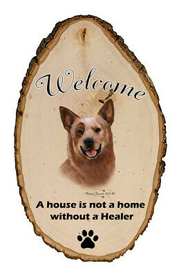 Outdoor Welcome Sign (TB) - Red Australian Cattle Dog 51281