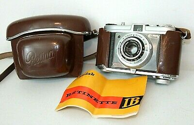 Vintage KODAK RETINETTE 1B Super Clean Camera w/Leather Case, Manual, Retina