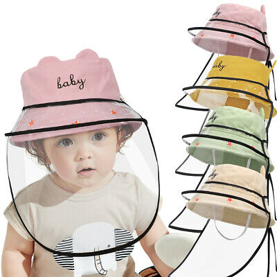 Children Kids Full Face Protective Cap Windproof Dustproof Anti-Fog Shield Hat