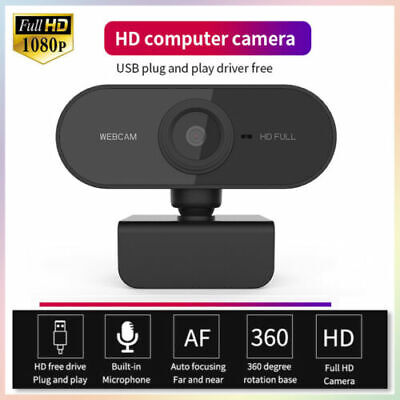 USB 2.0 HD 1080P Webcam Camera for Computer PC Laptop Video Microphone Autofocus