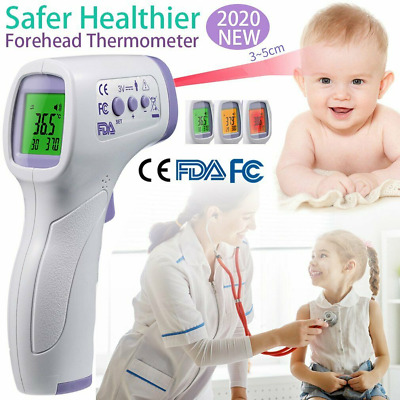 Non-Contact Infrared Digital Thermometer LCD Forehead Fever Baby Adult CE FDA FC