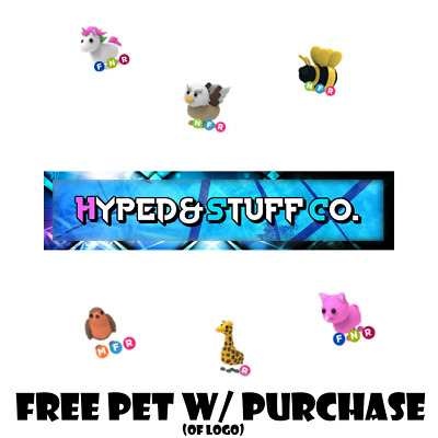 Roblox Adopt Me Neon Fly Ride Pets Legendary FREE w/ purchase of H&S Co. Logo