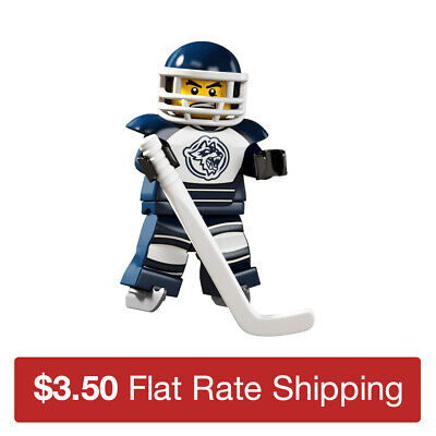 M238 Lego Christmas Frozen Lake Ice Skate Riley Hockey Player Minifigure NEW