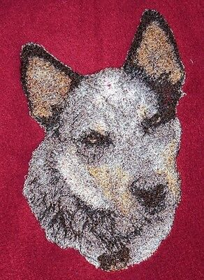 Embroidered Ladies Short-Sleeved T-Shirt - Australian Cattle Dog AED16215