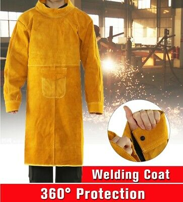 1.05m Cowhide Work Clothes Welding Protective Clothing Heat and Fire Resistant