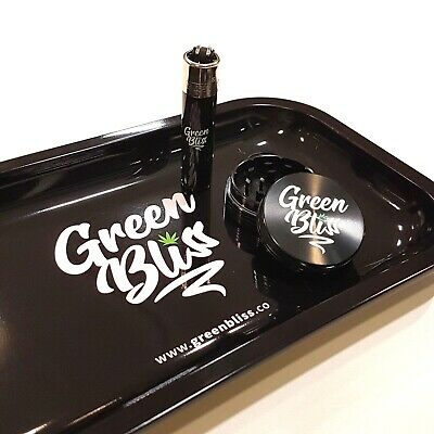 Rolling Tray Gift Set - Metal Herb Grinder, Rolling Tray and Clipper Lighter
