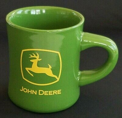 John Deere Logo Licensed Product Double Sided Coffee Tea Mug Cup