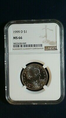 1999 D SUSAN B ANTHONY NGC MS66 GEM $1 Coin Starts At 99 Cents!