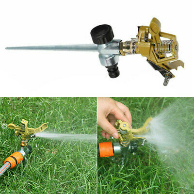 FT Large Lawn Impulse Sprinkler DIB 193MMS 6 Poly Head on Metal Spike 5800 SQ