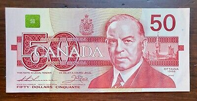 1988 $50 Bank of Canada Note Thiessen Crow - Extremely Fine