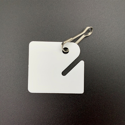 Huron Pack of 20 Slotted Key Tags White