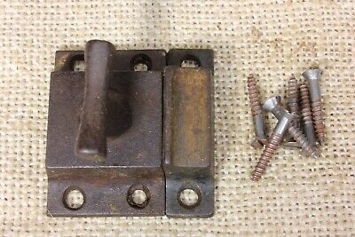 old Cabinet Cupboard Latch Catch smooth rustic iron T knob SMALL SIZE 1 5/8""