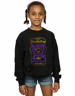 Harry Potter Girls Chocolate Frogs Coloured Label Sweatshirt