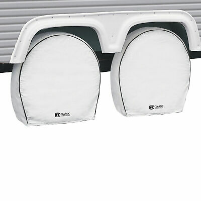 Classic Accessories OverDrive RV Wheel & Tire Cover- 4Pk White 24in-27in Dia