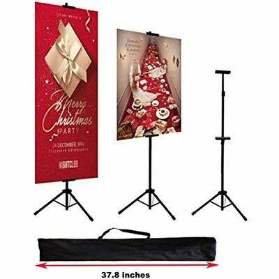 Double-Sided Poster Stand, Floorstanding Sign For Display, Height Adjustable Up