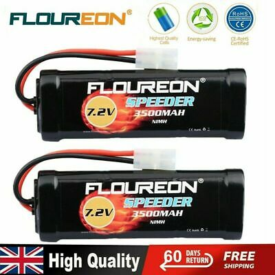 2X Floureon NiMH Battery Pack 3500mAh 7.2V Rechargeable for Tamiya RC Car Truck