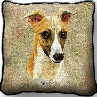 """17"""" x 17"""" Pillow Cover - Whippet by Robert May 1174"""