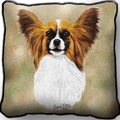 """17"""" x 17"""" Pillow Cover - Papillon by Robert May 1157"""