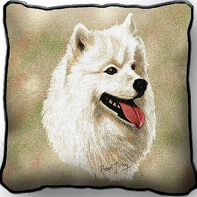 "17"" x 17"" Pillow Cover - Samoyed by Robert May 1194"