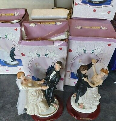 Job lot wedding couple ornaments as pictured x8 poorly stored boxes look good