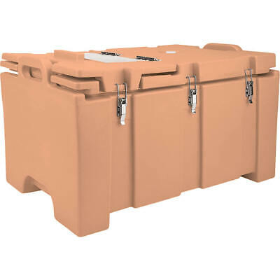 Cambro 40 Qt Cooler With Hinged Serving Lid Coffee Beige 100Mpchl-157