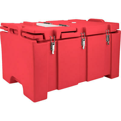 Cambro 40 Qt Cooler With Hinged Serving Lid Hot Red 100Mpchl-158