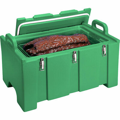 Cambro 40 Qt Cooler / Insulated Food Carrier, Molded Handles Green 100Mpc-519