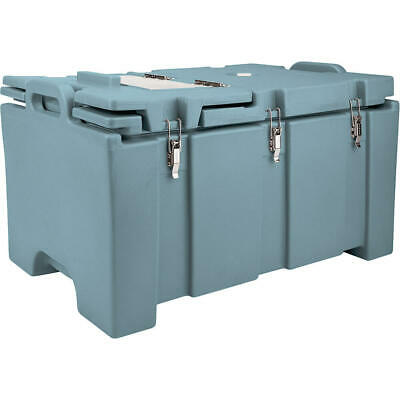 Cambro 40 Qt Cooler With Hinged Serving Lid Slate Blue 100Mpchl-401